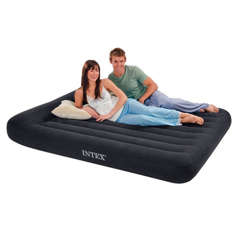 Airbed with Built-in Pillow and Electric Pump