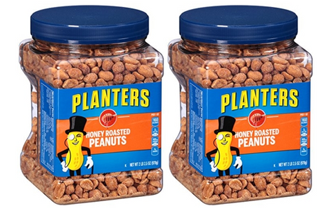 Pack of 2 Planters Honey Roasted Peanuts, 34.5 Ounce