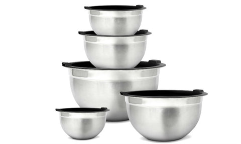 Meal Prep Stainless Steel Mixing Bowls Set with Airtight Lids (10-Piece)