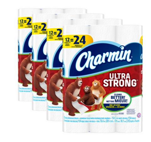 48 rolls of Charmin ultra strong toilet paper