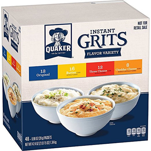 48-Count of 0.98-Oz Quaker Instant Grits Variety Pack