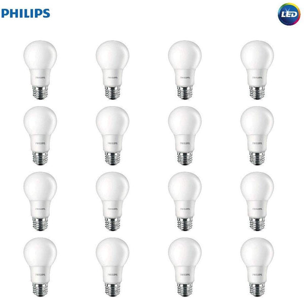 16 Philips LED Non-Dimmable A19 Frosted Light Bulb