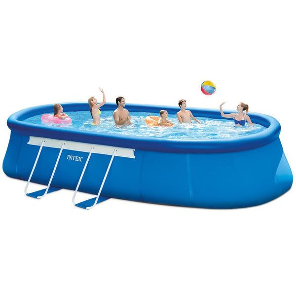 Intex 20ft X 12ft X 48in Oval Frame Pool Set with Filter Pump