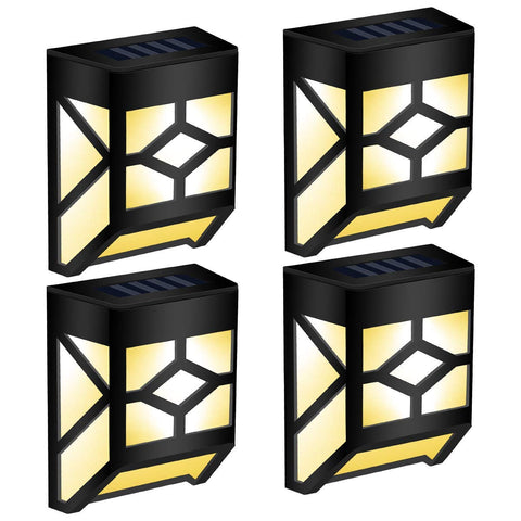 4 Pack GIGALUMI Solar Deck Lights, Waterproof