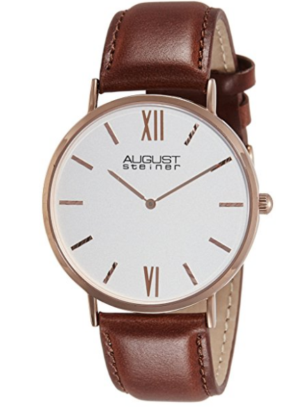 August Steiner Rose Gold-Tone Watch