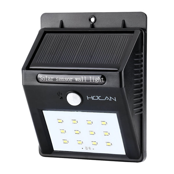 12 LED solar motion sensor light