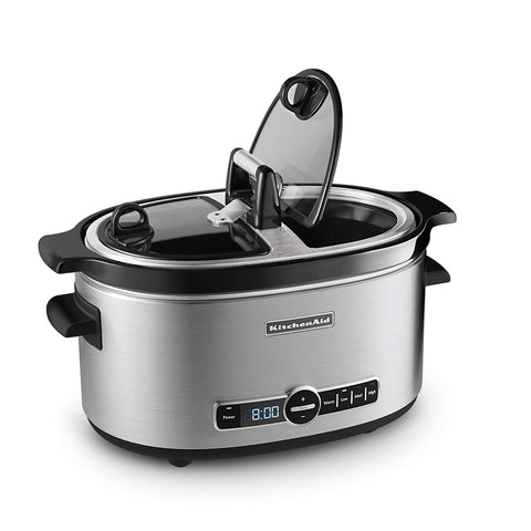 KitchenAid Slow Cooker with Easy Serve Glass Lid, 6 quart