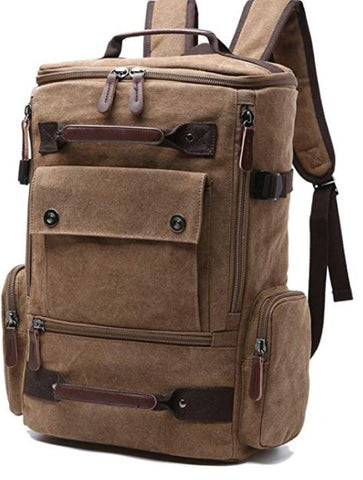 Canvas Backpack, Vintage Canvas School Backpack