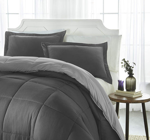 iEnjoy Home Collection Down Alternative Reversible Comforter Set