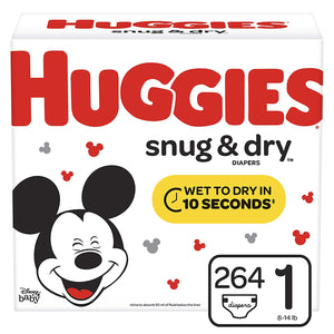 2 Boxes Of Huggies Snug & Dry Diapers