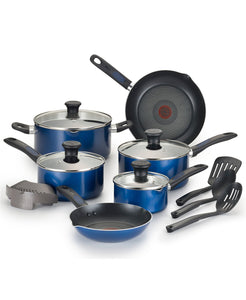 T-Fal Cook-N-Strain 14-Pc. Non-Stick Cookware Set (2 Colors)