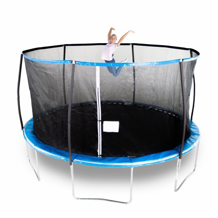 Bounce Pro 14-Foot Trampoline, with Enclosure, Blue