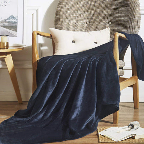 Microfiber fleece throw blanket