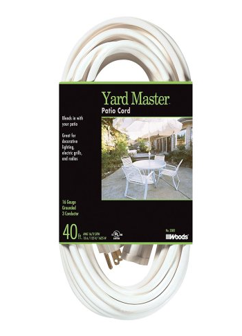 Yard Master 40 foot outdoor extension cord with power block