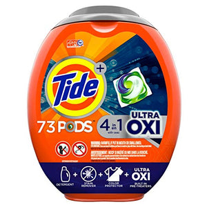 3 Pack Of 73 Tide Ultra Oxi Liquid Laundry Detergent Pacs