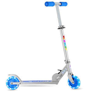 Folding Kick Scooter With Light Up Wheels