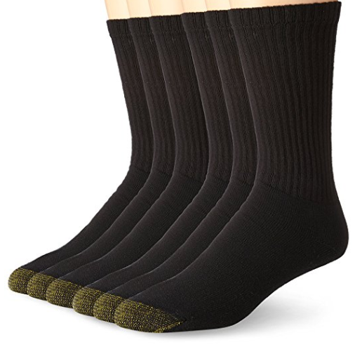 Pack of 6 Gold Toe cotton athletic socks