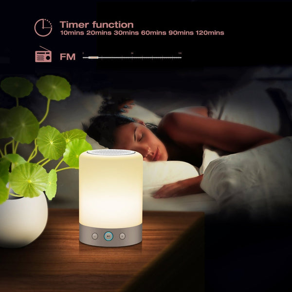 Color Changing Night Lamp & Bluetooth Speaker