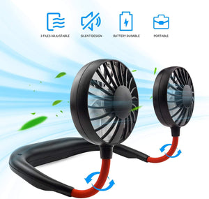 Hand Free Portable Neck Fan