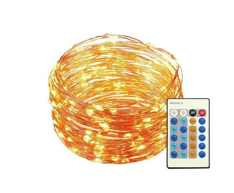 33 ft Dimmable Led String Lights with Remote