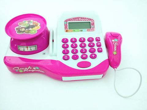Supermarket Cash Register Toy with Electric Sound Scanner