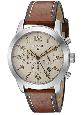 Fossil Q Pilot Gen 1 Hybrid Brown Leather Smartwatch