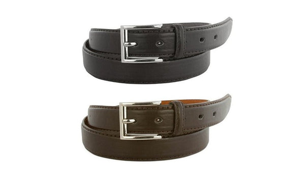 2 genuine leather belts