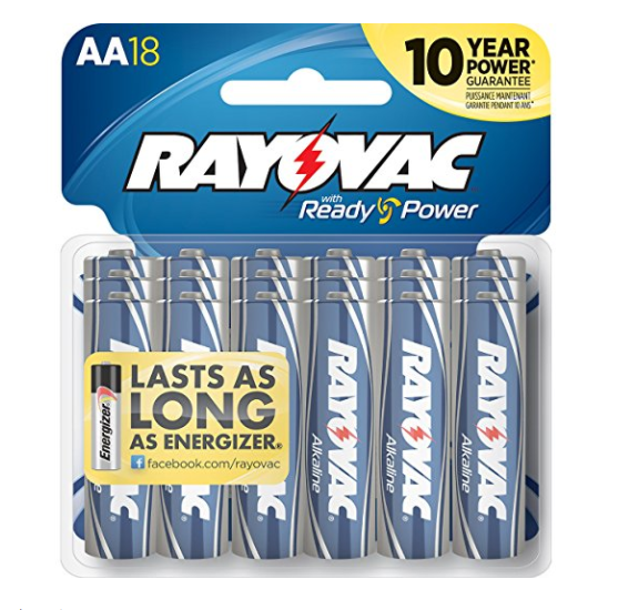Pack of 18 Rayovac AA batteries