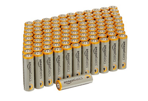 Pack of 100 AmazonBasics AA batteries