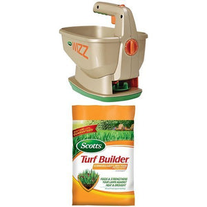 Scotts Wizz Spreader & Summerguard Lawn Food Bundle