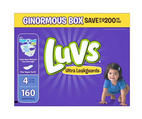 Pack of 160 size 4 Luvs diapers