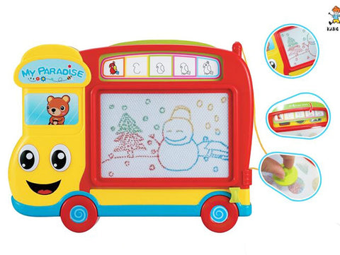 Car shape drawing board educational toy