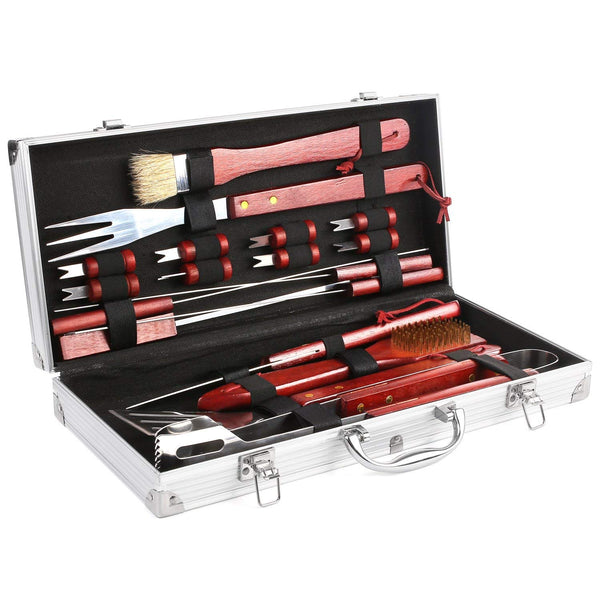 19 piece stainless steel BBQ grill set