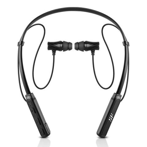 Wireless neckband noise cancelling earbuds with mic