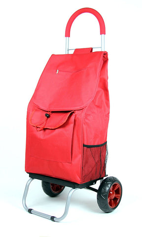 Trolley Dolly, Red Shopping Grocery Foldable Cart