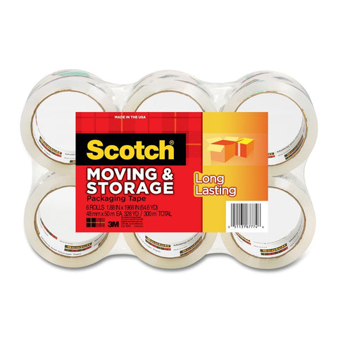 Pack of 6 Scotch packaging tape
