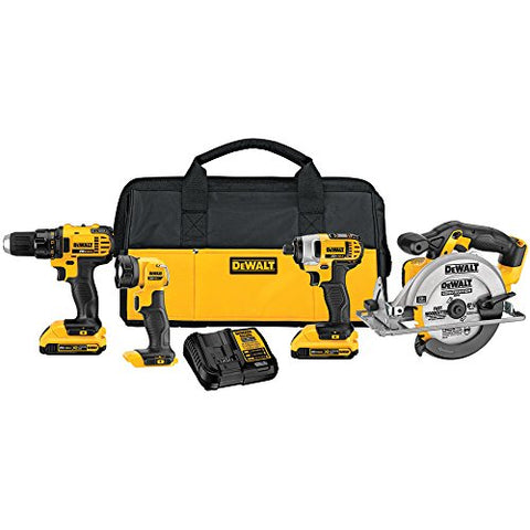 Dewalt 4-Tool 20-Volt Max Lithium Ion Cordless Combo Kit with Case