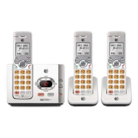 AT&T 3 Handset Cordless Phone with Answering System and caller ID