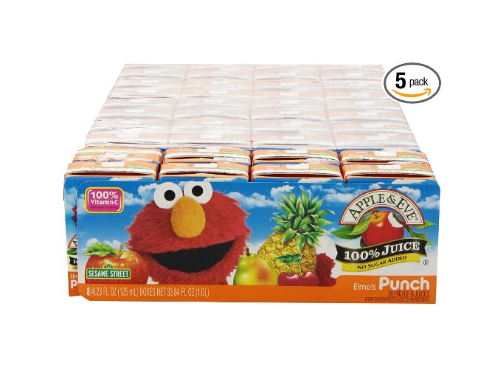 40 Apple & Eve Sesame Street Elmo's Punch Drinks