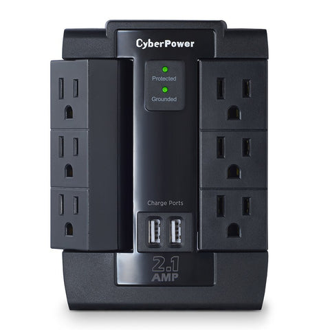 6 outlet with 2 USB surge protector