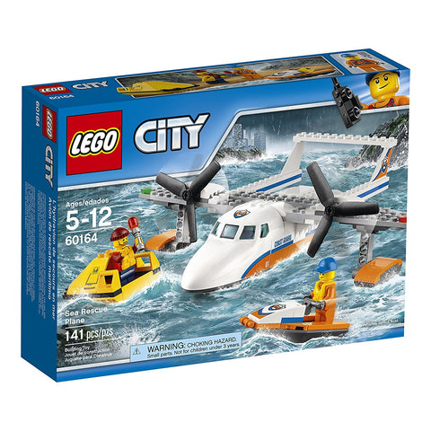 LEGO City Coast Guard Sea Rescue Plane Building Kit (141 Piece)
