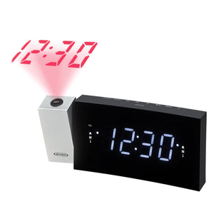 Digital Dual Alarm Projection Clock Radio