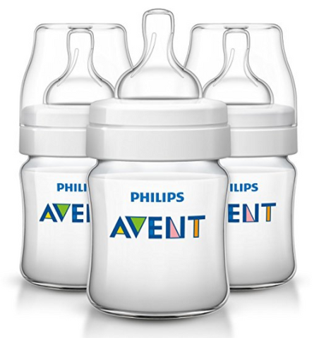 Pack of 3 Philips Avent baby bottles