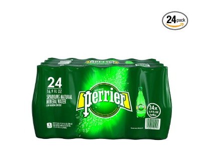 24 bottles of Perrier Sparkling Mineral Water