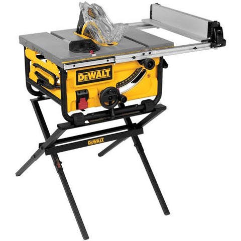 DEWALT Compact Job Site Table Saw with Guarding System and Stand