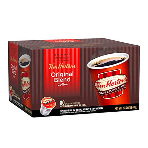 80-Count Tim Horton's Single Serve Coffee K-Cups (Medium Roast)