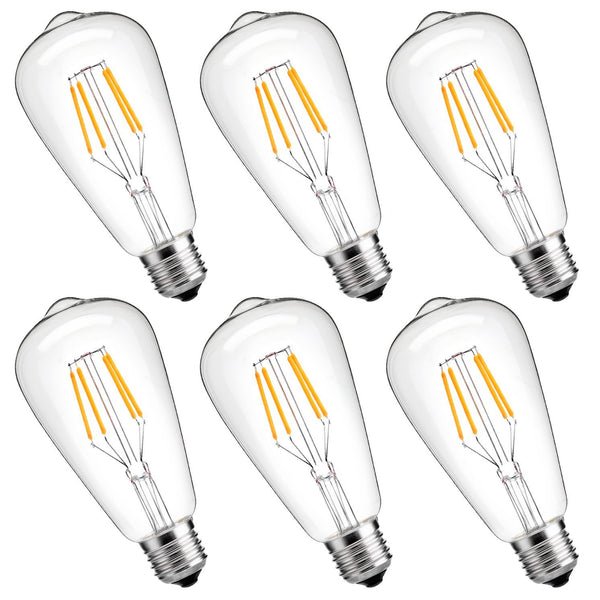 Pack of 6 LED dimmable bulbs