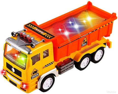 Electric Dump Truck Toy for Kids with Stunning 4D Flashing Lights and Sounds