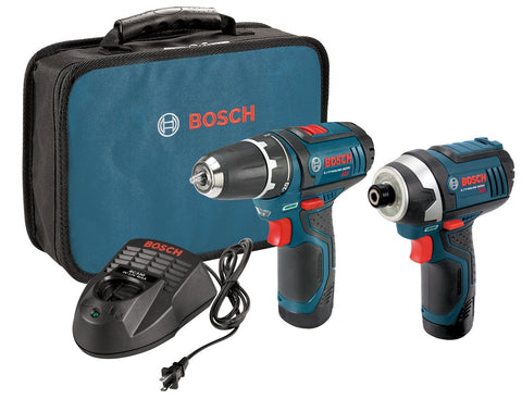Bosch 12-Volt Lithium-Ion 2-Tool Combo Kit with 2 Batteries, Charger and Case