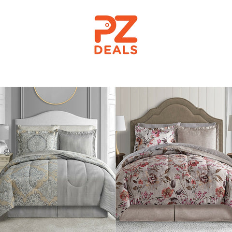 8 piece reversible bedding sets - 33 styles